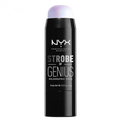 Стик иллюминатор NYX Professional Makeup Strobe Of Genius Holographic Stick - BLUE 02: фото
