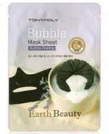 Кислородная маска для лица TONY MOLY Earth beauty bubble mask sheet: фото