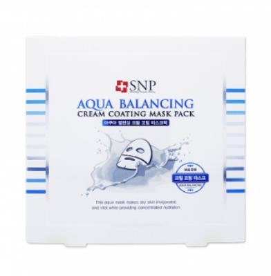Увлажняющая маска для лица SNP Aqua balancing cream coating mask pack: фото