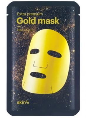 Маска для лица с золотом и конским жиром SKIN79 Extra premium gold mask horse oil 27г: фото