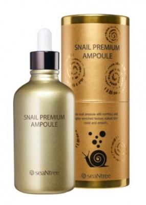 Ампульная сыворотка с муцином улитки SEANTREE Snail premium ampoule 100мл: фото