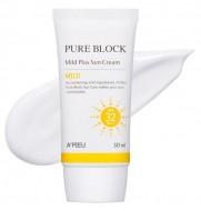 Солнцезащитный ухаживающий крем A'PIEU Pure Block Natural Mild Plus Sun Cream SPF32: фото