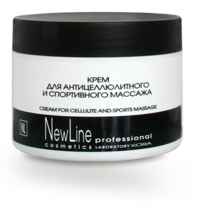 Крем для антицеллюлитного и спортивного массажа NEW LINE 300мл: фото