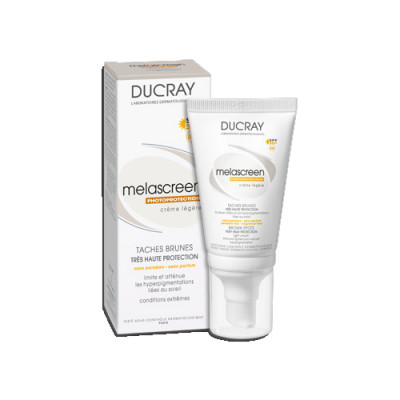 Крем легкий фотозащитный Ducray Melascreen SPF50+ 40 мл: фото