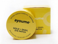 Патчи для глаз омолаживающие с золотом и улиточным муцином AYOUME GOLD+SNAIL EYE PATCH 1,4г*60: фото