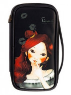 Косметичка FASCY PUNGSEON Tina PU Beauty Pouch black: фото