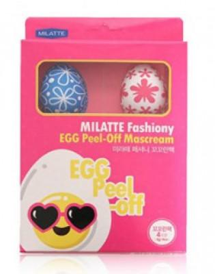 Набор крем-масок для лица MILATTE FASHIONY EGG PEEL-OFF MASCREAM 4EA 8г*4: фото