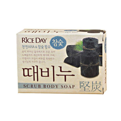 Мыло-скраб CJ Lion Rice day Древесный уголь 100г: фото