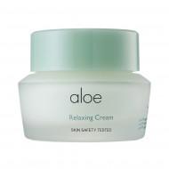 Успокаивающий крем для лица с экстрактом алоэ вера IT'S SKIN Aloe Relaxing Cream: фото