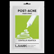 Тканевая маска с экстрактом центеллы азиатской против постакне L.SANIC CENTELLA ASIATICA POST-ACNE MASK SHEET 25мл: фото