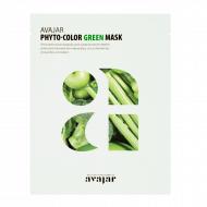 Маска увлажняющая и успокаивающая Avajar Phyto-Color Green Mask 10шт: фото