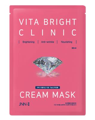 Маска тканевая для яркости кожи JUNGNANI JNN-II VITA BRIGHT CLINIC CREAM MASK 30мл: фото