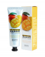 Увлажняющий крем для рук с маслом манго JIGOTT Real Moisture Mango Hand Cream: фото