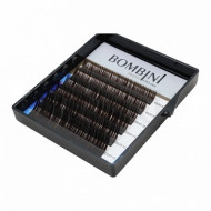 Ресницы Bombini Truffle Темно-коричневые, 6 линий, изгиб C mini-MIX (8-13) 0.07: фото