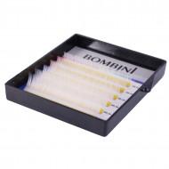 Ресницы Bombini Holi Белые, 6 линий, изгиб D MIX (8-13) 0.10: фото