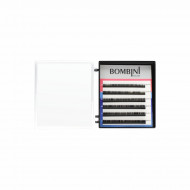 Ресницы Bombini Черные, 6 линий, изгиб D+ - mini-MIX (5-7) 0.07: фото