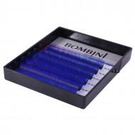 Ресницы Bombini Holi Синие, 6 линий, изгиб D MIX (8-13) 0.10: фото