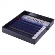 Ресницы Bombini Holi Черно-синие, 6 линий, изгиб D MIX (8-13) 0.07: фото