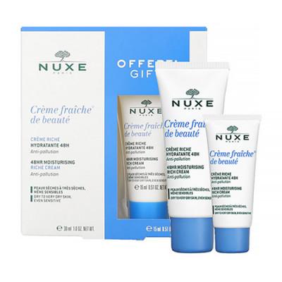 Набор для сухой кожи лица Nuxe CREM FRAICHE DE BEAUTE: крем 30 мл + крем 15 мл: фото