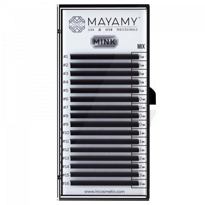Ресницы MAYAMY MINK 16 линий CC 0,07 MIX: фото